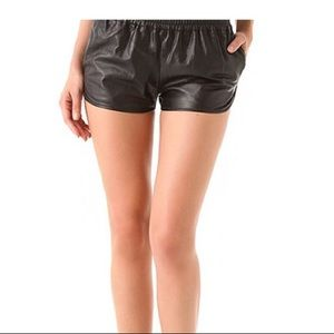 Haute Hippie Leather Shorts XS